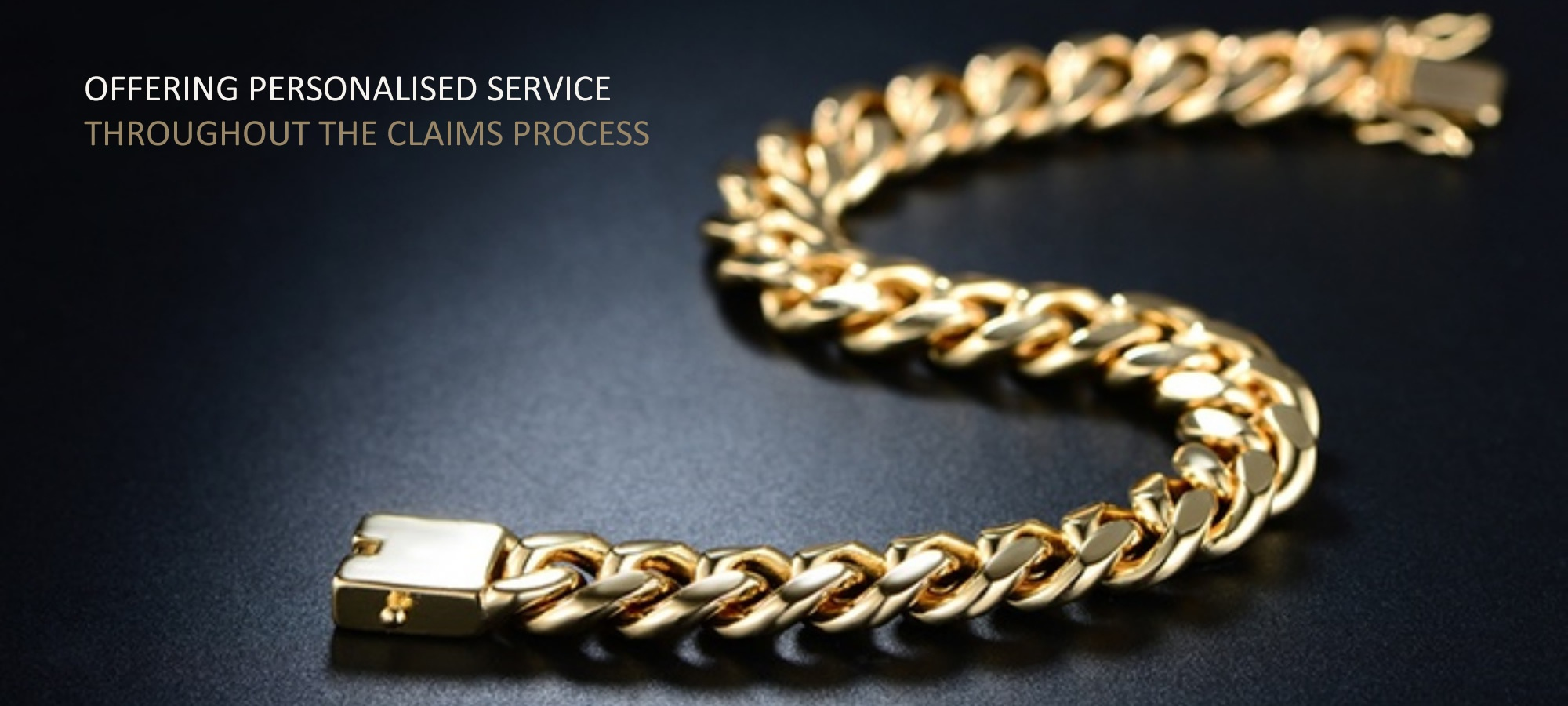 offering personalised service throughout the claims process