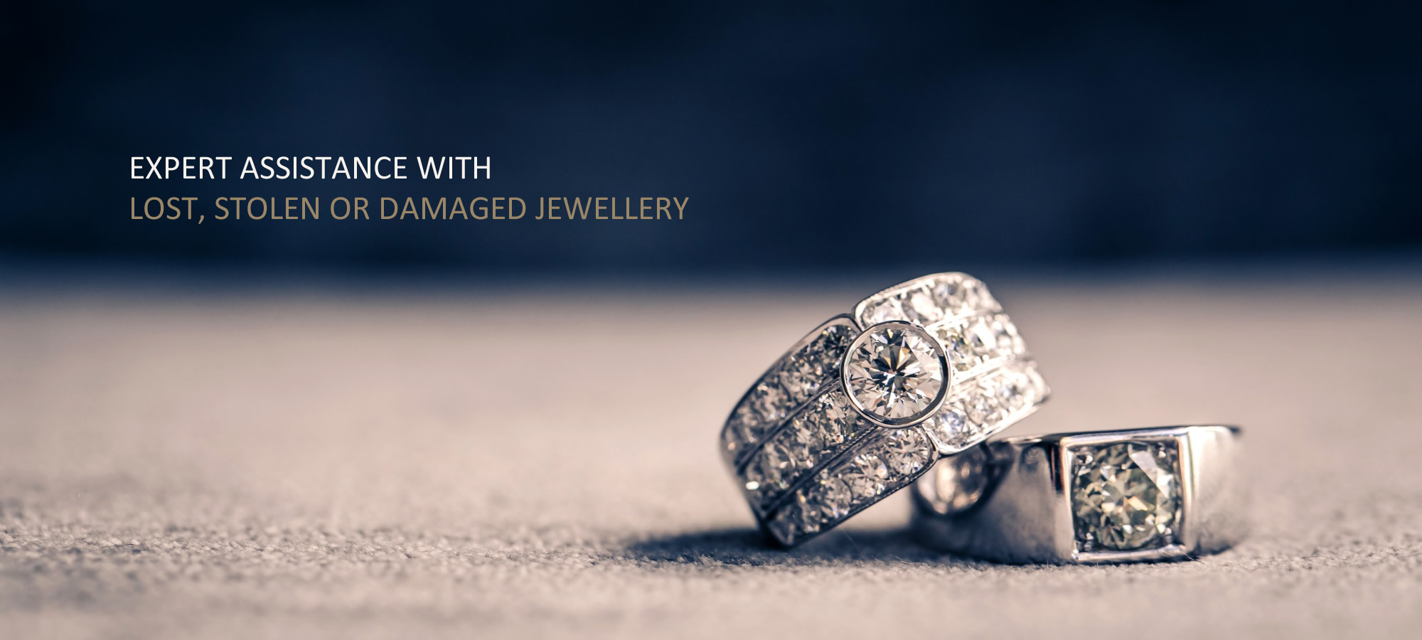 expert assistance with lost, stolen or damaged jewellery